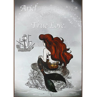 Disney The Little Mermaid Dreams Wood Wall Art