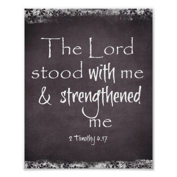 Chalkboard Bible Verse Typography Poster