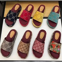 GUCCI new classic GG letters ladies platform sandals and slippers high quality