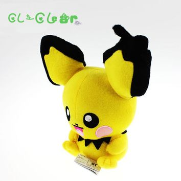 2017 New high quality Pichu Plush Doll Toy Stuffed Dolls 20cm Figure doll Gifts for children