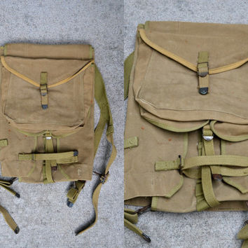Vintage Boyt 1942 Us Military WWII Canvas Military Haversack Bag