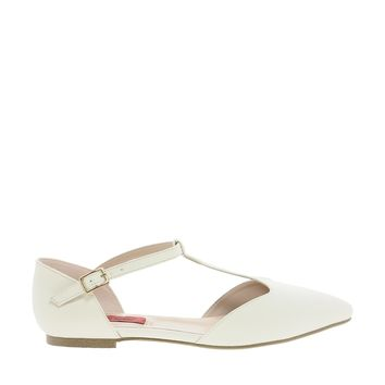 London Rebel Buckle Strap Flat Shoe