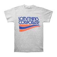 Something Corporate Men's  Corporate Logo T-shirt Grey