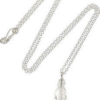 Daisy Knights | Sterling silver feather necklace | NET-A-PORTER.COM