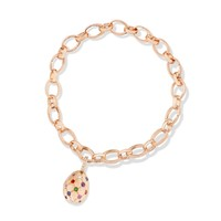 TREILLAGE MULTI COLOURED ROSE GOLD MATT CHARM | FABERGÉ.com