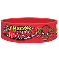 Spider-Man Men's The Amazing Rubber Bracelet Red