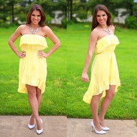 Pucker Up Dress in Yellow