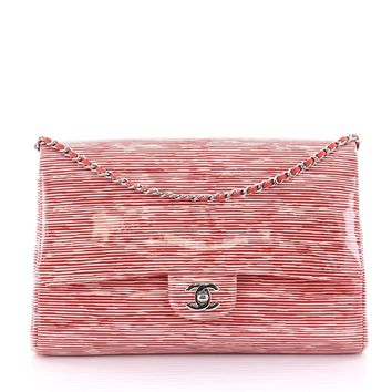 Chanel Classic Double Flap Bag Printed Patent Jumbo
