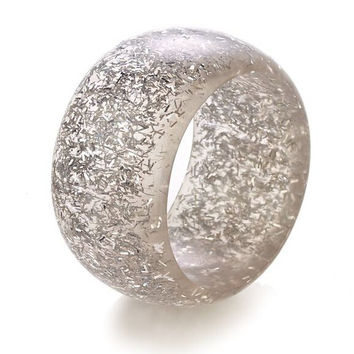 Sparkle Silver Napkin Rings - Set of 4