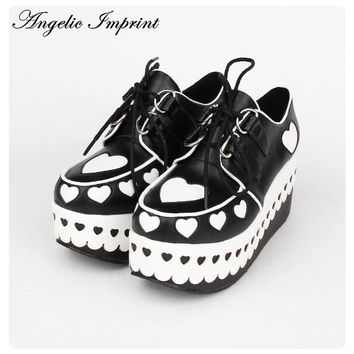 Lovely Sweetheart Platform Heels Lolita Princess Gothic Cosplay Japanese Harajuku Style Girls Shoes  8892