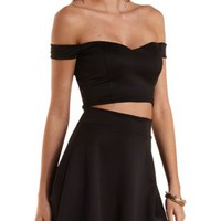 Off-The-Shoulder Sweetheart Crop Top by Charlotte Russe