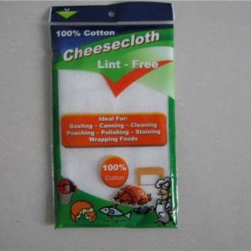 Cheese Cloth 2 Yards Fine Quality 100% Cotton Bleached White Cheese Cloth Fabric