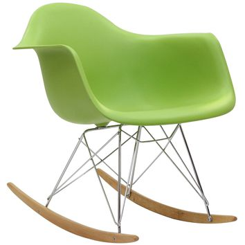 Modern Avant Rock Chair, Green