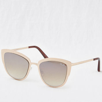 Quay Super Girl Sunglasses, Gold