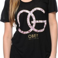 Obey Smokey Rose OG Black Beau T-Shirt