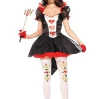 Amour Women's Royal Queen of Hearts Alice in Wonderland Costume