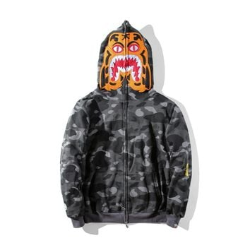 Men's Fashion Embroidery Fleece Casual Camouflage Jacket [429895581732]