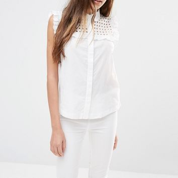 Pimkie Lace Detail Sleeveless Shirt