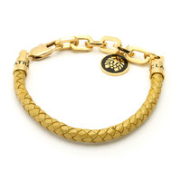 Rastaclat Chaz Ortiz Gold Leather Bracelet