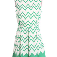 Chevron  dress in Mint  summer dress missoni style  abstract short dress sleeveless summer  dress