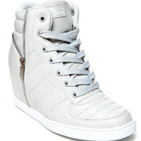 Planey Zip Trim Wedge Sneaker