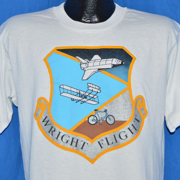 90s Wright Flight Ohio Aviation History Space Shuttle t-shirt Large
