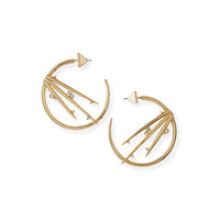 Alexis Bittar Metallic Thorn Hoop Earrings