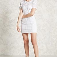 Open-Knit T-Shirt Dress