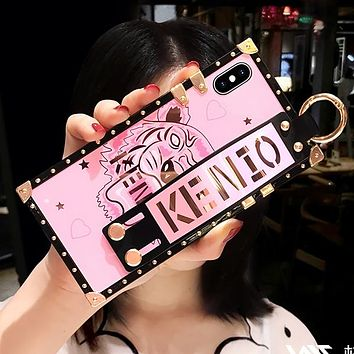 KENZO Chrome Hearts Pink Panther Stylish Mobile Phone Cover Case For iphone 6 6s 6plus 6s-plus 7 7plus 8 8plus X XSMax XR