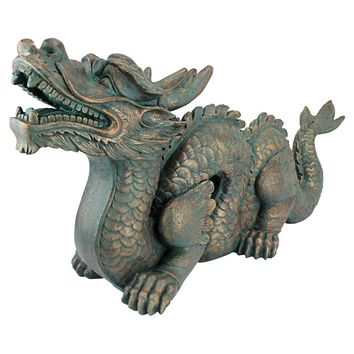 Design Toscano Asian Dragon Of The Great Wall Large Garden Statue | Hayneedle