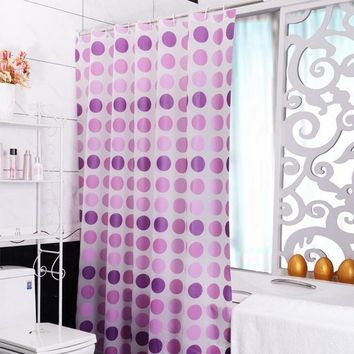 Shower Curtains Purple Endless Pattern Thick Bathroom Curtain Hooks 180x180cm