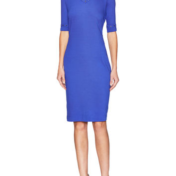 Escada Women's Elitza Sheath Dress with Studded Details