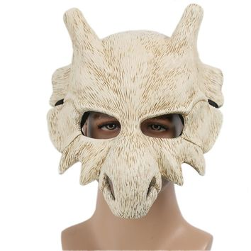 Cubone Beige Resin Bone Full Face Mask 2018 Halloween Christmas Party Masks Festival Holiday Cosplay Costume PropsKawaii Pokemon go  AT_89_9