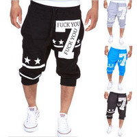Capri Men's Fashion Alphabet Print Design Casual Pants Sportswear [6544207555]