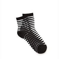 Sheer Stripe Crew Socks - Country Road