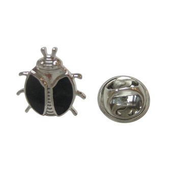 Black Bug Insect Lapel Pin
