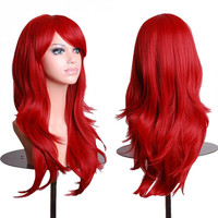 Women's Red Cosplay Curly Wigs
