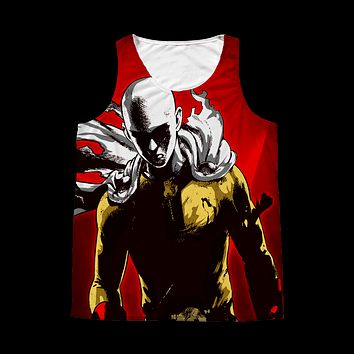 One Punch Man - Saitama - 1 Sided 3D tank top t shirt Tank - TL00928AT