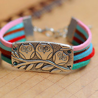 OWL braceletretro silver super cute owl by fantasticgift on Etsy