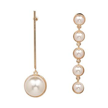 Allegra Pearl Mismatched Earrings