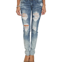 Gradient Wash Destroyed Skinny Jean | Shop Jeans at Wet Seal