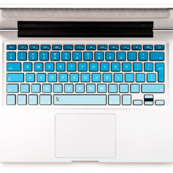 Something Blue With Ombre Macbook keyboard decal Macbook Decal Keyboard Sticker Macbok Air Pro Retina HP Wireless Macbook Air Decal Macbook
