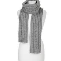 CABLE KNITTED SCARF(REF - P21)
