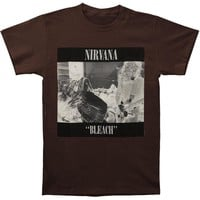 Nirvana Men's  Bleach T-shirt Chocolate