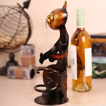 Animal Metal Sculpture Wine Bottle Holder/Wine Rack 5 Styles