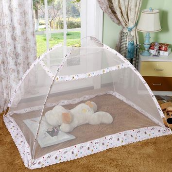 Hot Children Infant Baby Bed Canopy Playpen Floding Cartoon Mosquito Nets Character Portable Crib Baby Mosquito Net Bed Tent