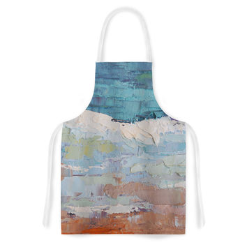"Carol Schiff ""On the Beach"" Coral Blue Artistic Apron"