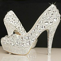 Glitz & Glam - Rhinestone Loaded Pumps
