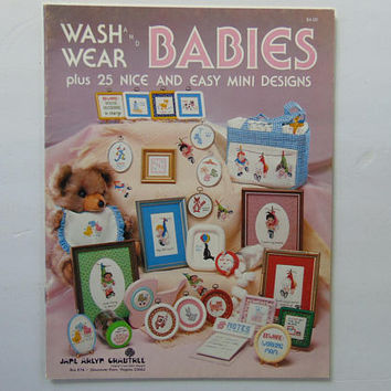 Wash and Wear Babies Cross Stitch by Jane Arlyn Crabtree 25 Designs