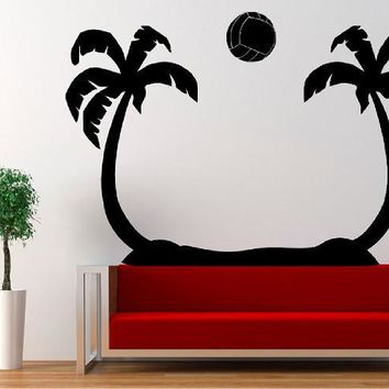 Beach Volleyball Wall Decals